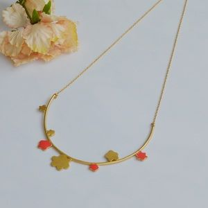 NWOT Madewell Daisy Bar Necklace Gold Plated